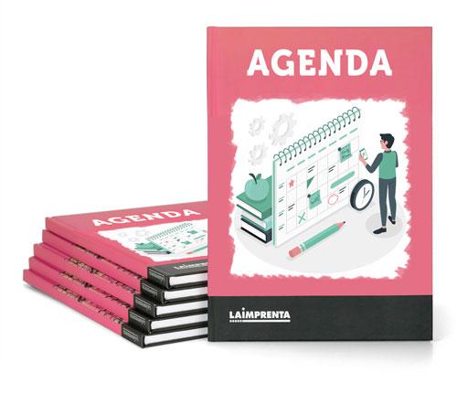 imprimir agendas personalizadas encuadernadas en tapa dura