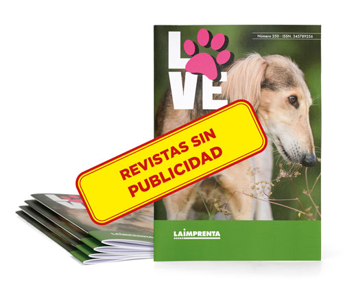 Impresión de revistas grapadas sin portada adicional y con iva reducido de 4
