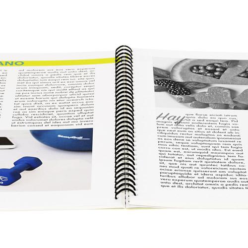 Imprime tus libros en blanco negro y color con wire-o tapa blanda
