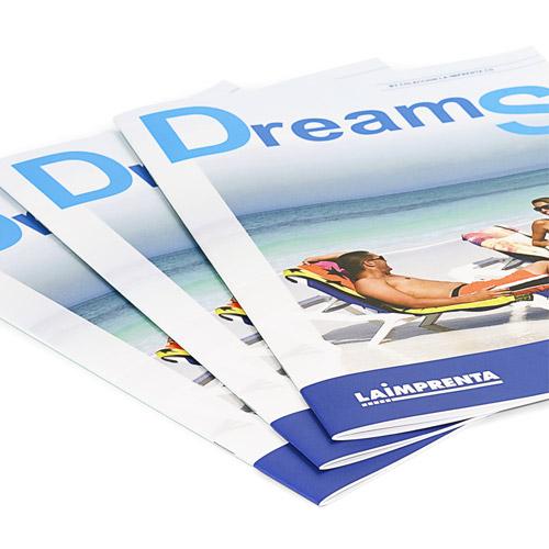 revistas encuadernadas con grapa