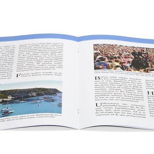llibret de fallas abierto grapado o libro de fiestas