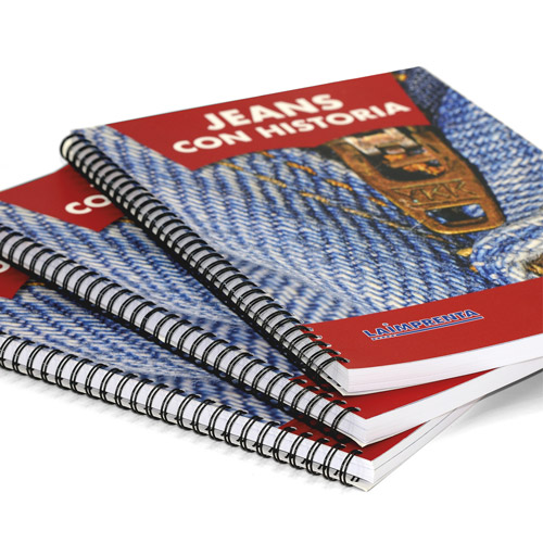 libros impresos en color encuadernados en wire-o tapa blanda en abanico