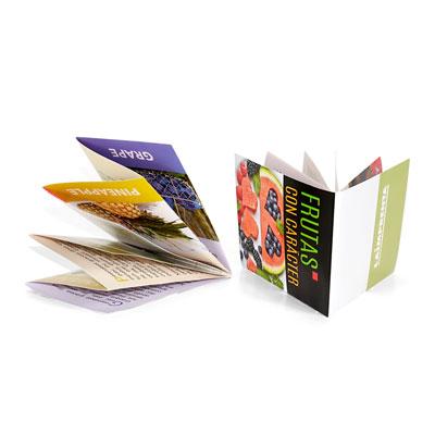 ejemplo de plegado de un folleto de 4 cuerpos mas diptico