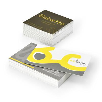 ejemplos de diferentes tamaños de tarjetas de visita baratas