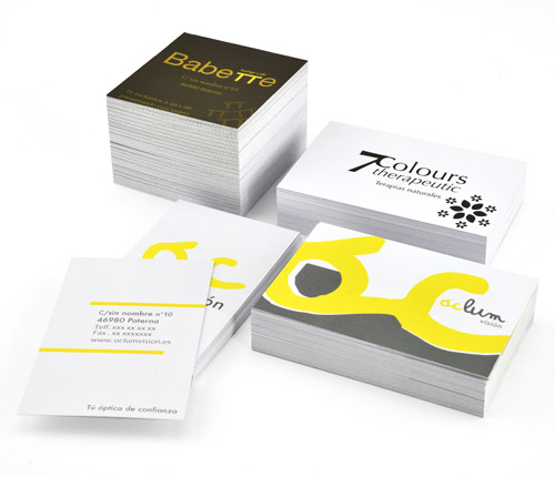 tarjetas de visita rectangulares