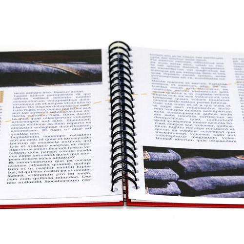 Imprime tus libros a todo color en wire-o con tapa dura