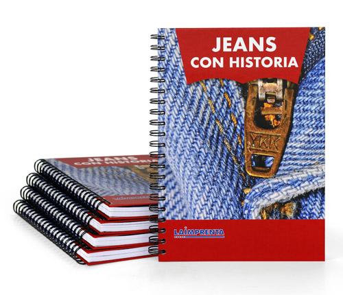 libros impresos a color encuadernados con wire-o tapa dura