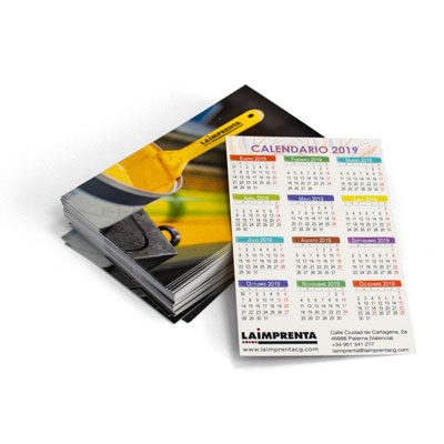 calcular el precio de imprimir un calendario de bolsillo