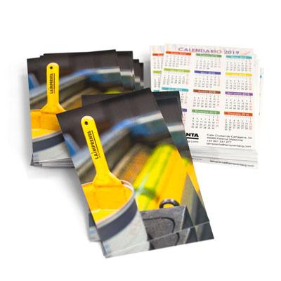 presupuesto de imprimir un calendario de bolsillo