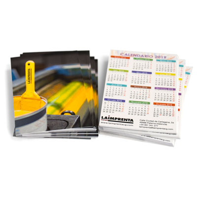 imprimir calendarios de bolsillo urgentes