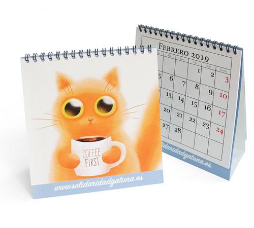 Imprimir calendarios de sobremesa encuadernados en wire-o baratos