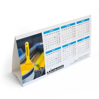 hacer presupuesto de un calendario triangular de sobremesa