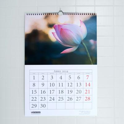 presupuestar un calendario de colgar en la pared