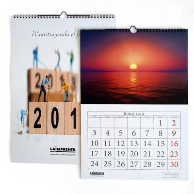calcular precio de impresión de un calendario de pared con wire-o superior