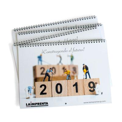 imprimir un calendario de gran tamaño encuadernado en wire-o