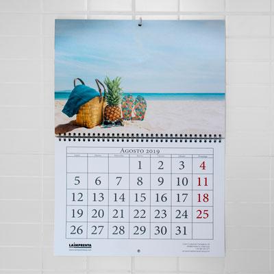 imprimir rapido un calendario con el wireo en el centro