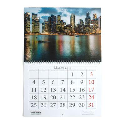 imprimir urgente calendarios de pared con wireo central