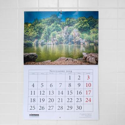 presupuesto de imprimir un calendario de pared grapado barato