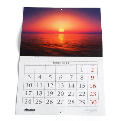 quiero imprimir calendarios de pared baratos