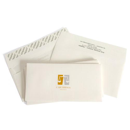 ejemplo de precio de sobres ahuesados verjurados