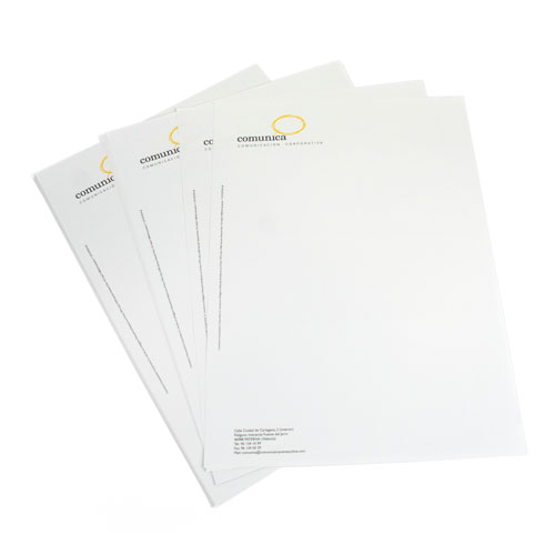 impresión de papel de cartas corporativo