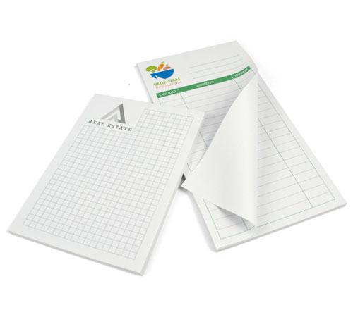 calcular el precio de imprimir un bloc de notas encolado