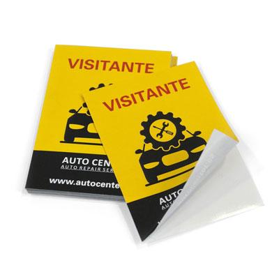 imprimir adhesivos baratos forma rectangular