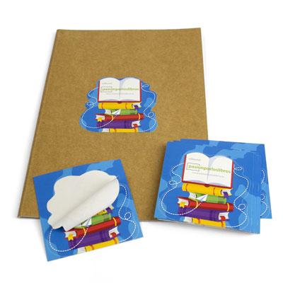 precio de impresión de adhesivos con semicorte personalizado