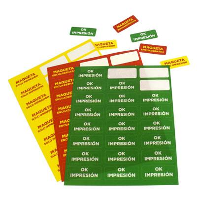 impresión de pegatinas urgentes en hojas