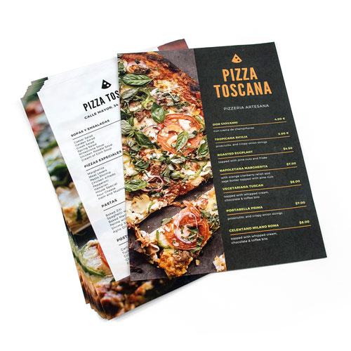 imprimir cartas para bares pizzerias asadores