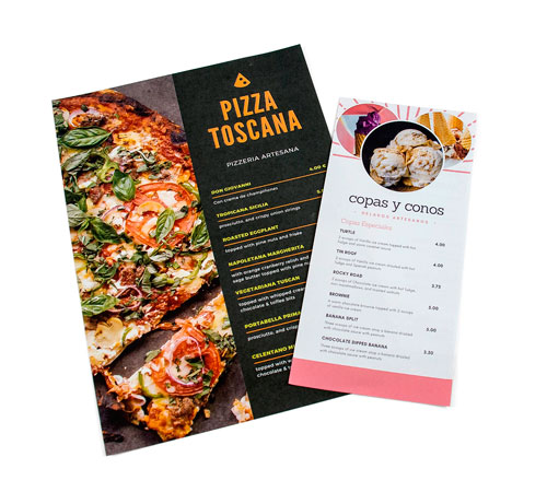 imprimir menus para hosteleria y restauracion