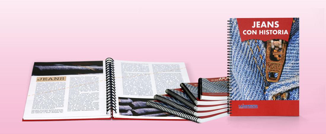 Imprimir libros a color con encuadernación wire-o