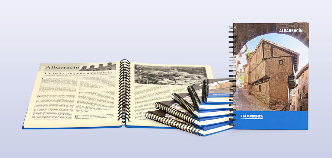 Imprimir libros en blanco y negro con la encuadernación en wire-o o espiral doble