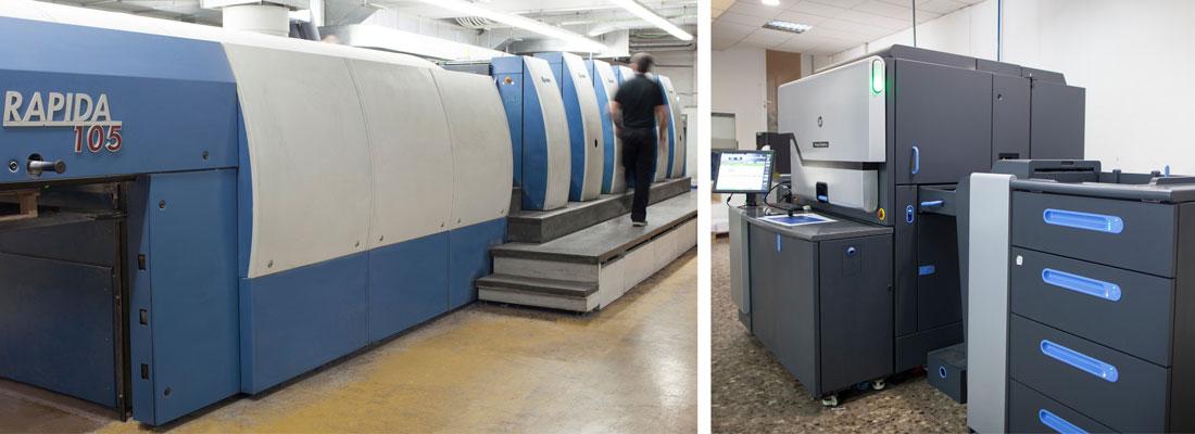 maquinas de impresión offset y digital