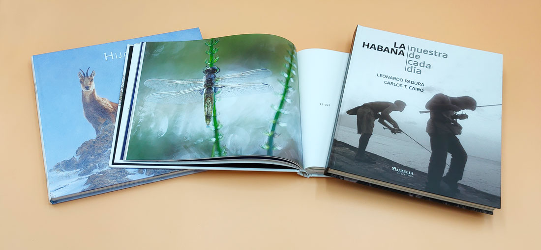 ejemplos de libros de fotografía con encuadernación tapa dura