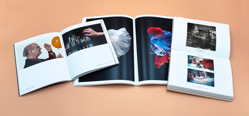 Libros de fotografía con imágenes en color o en blanco y negro encuadernación rústica