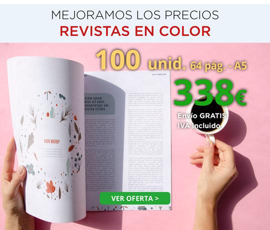 imprimir revistas A5 mejor precio