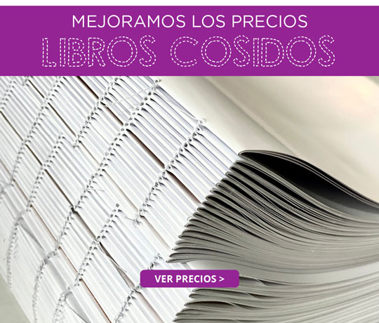 Oferta de libros cosidos