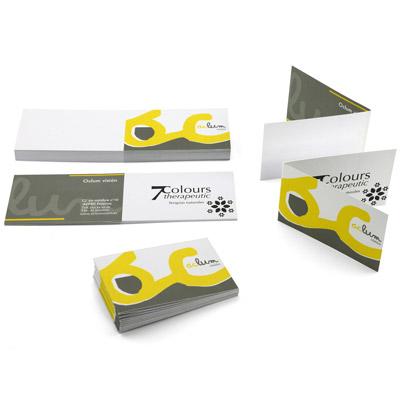 tarjetas de visita dobladas en diptico