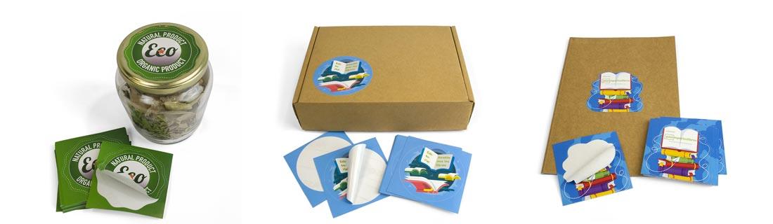 adhesivos rectangulares con semicorte de formas personalizadas
