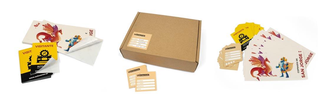 adhesivos personalizados rectangulares