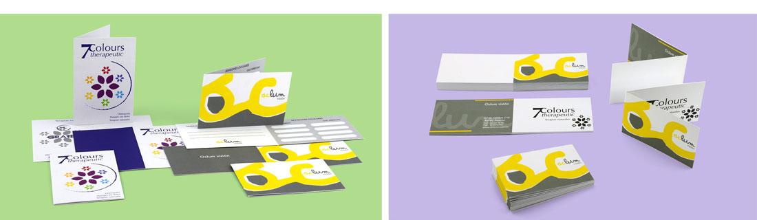 tarjetas de visita diptico