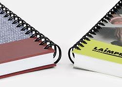 Imprimir libros en wire-o tapa dura o tapa blanda