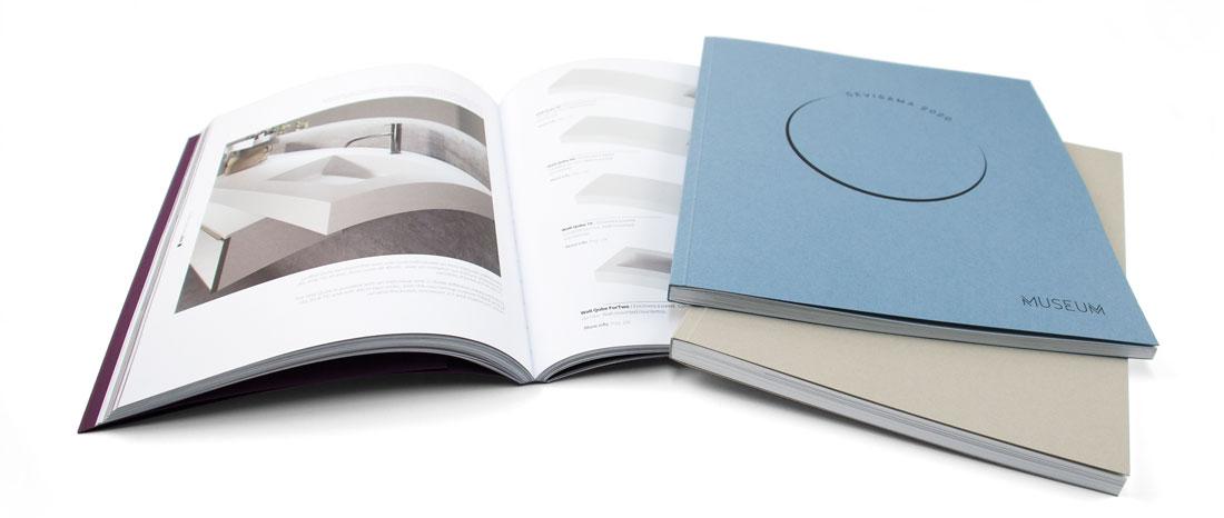 imprimir catálogos con encuadernación tapa blanda