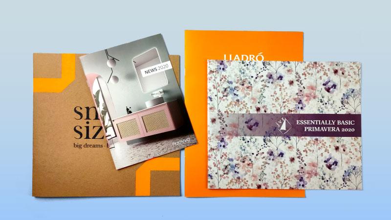 tamaños de impresión de los catálogos grapados